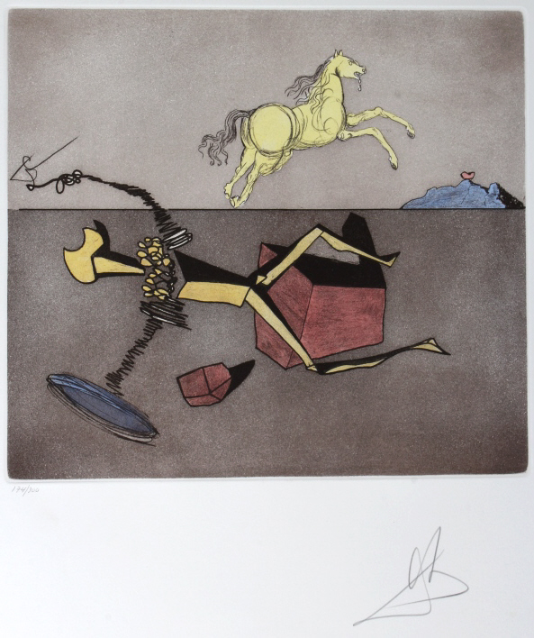 Salvador Dali ASPIRATION LE Etching Arches SIGNED