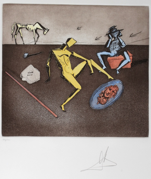Salvador Dali MIRROR OF CHIVALRY LE Etching SIGNED