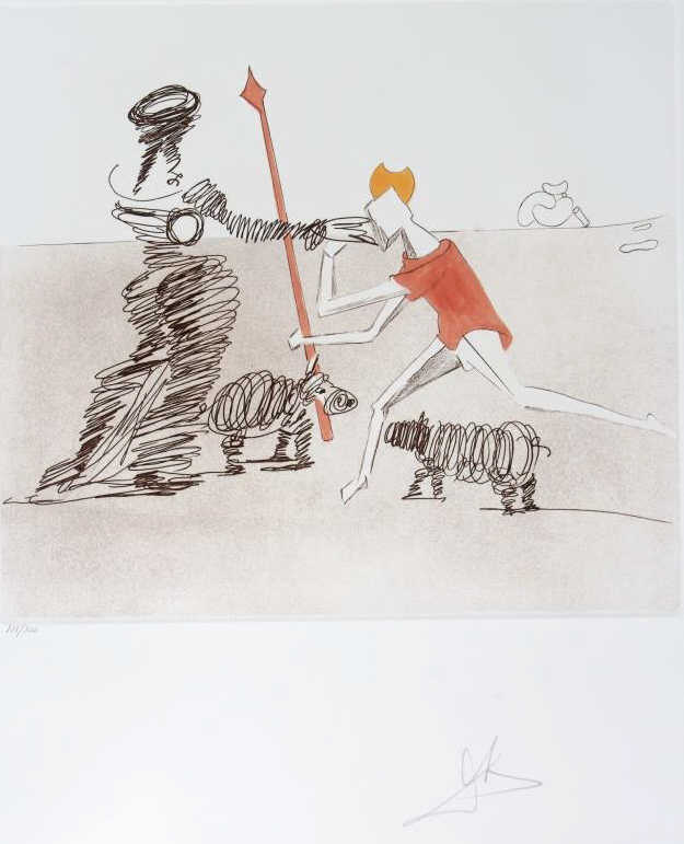 Salvador Dali PASTORAL LE Aquatint Etching SIGNED