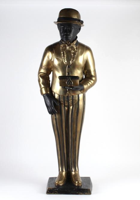 Antique Brass Black Man NY Hotel Bellhop Americana