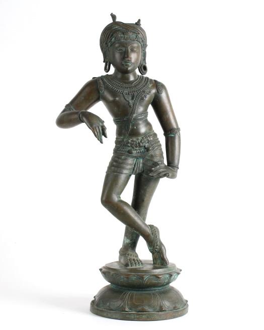 Antique Cast Bronze Figure of Standing Buddha 23