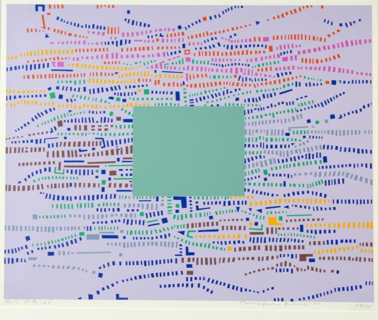 Risaburo Kimura City 168 A/P Serigraph BASS MUSEUM
