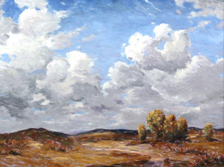 David Eugene Henry Large Landscape Oil Painting