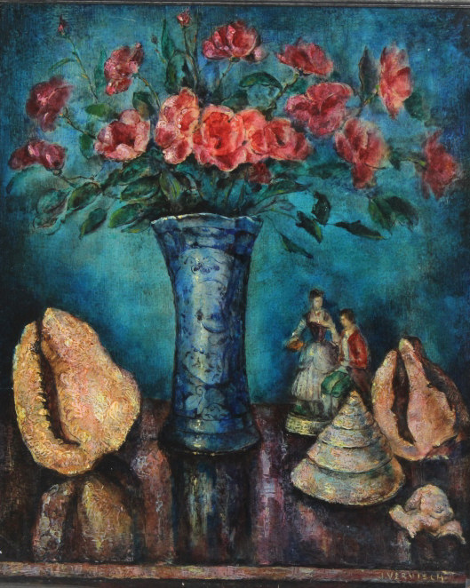 Jean Vervisch Still Life Floral Painting LISTED