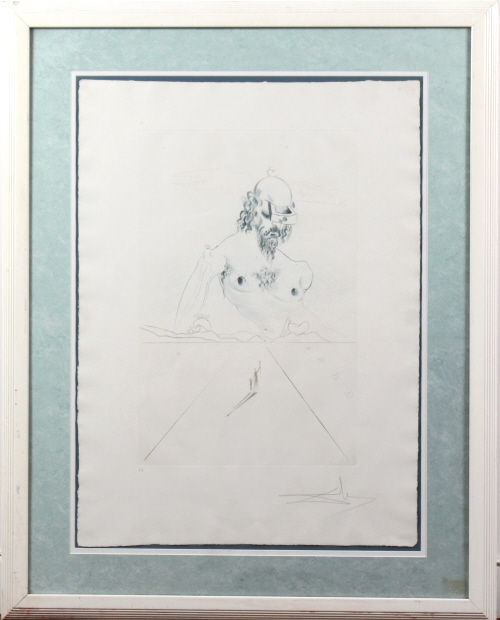 Salvador Dali Le Colosse Surrealist Etching SIGNED