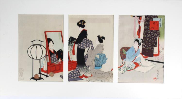 Japanese Miyagawa Shuntei Woodblock BASS MUSEUM