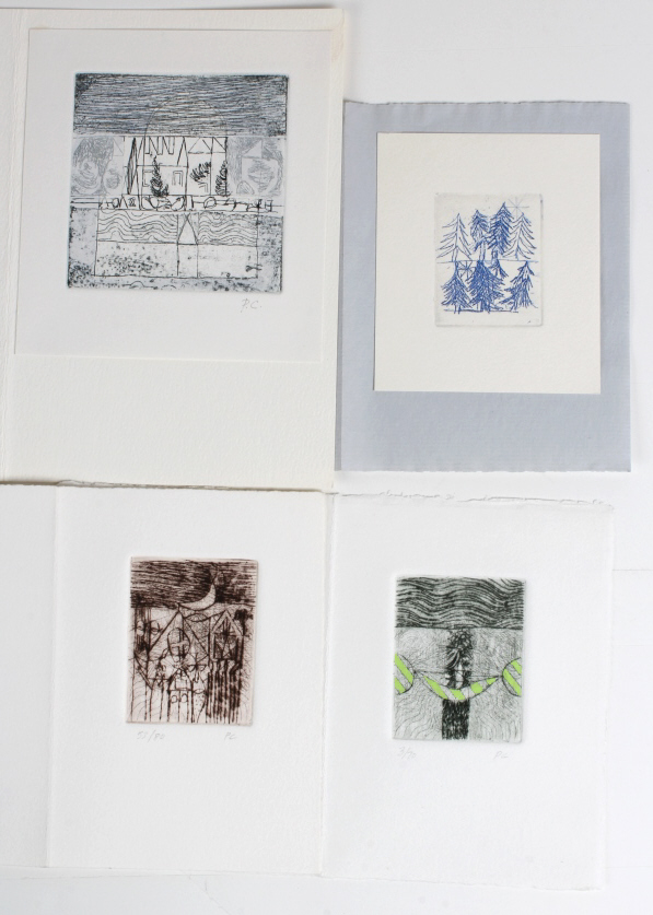 Peter Chapin Collection Of 4 Etchings BASS MUSEUM