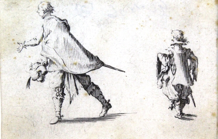 Jacques Callot 17th Century Nobleman BASS MUSEUM