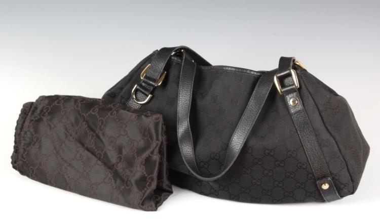 Gucci Monogram Abbey Denim Handbag