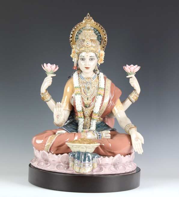 Lladro Goddess Lakshmi Porcelain Figure #1930
