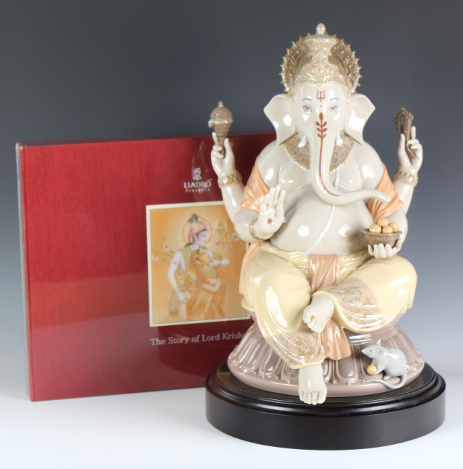 Llladro Lord Ganesha Porcelain Figure #1878