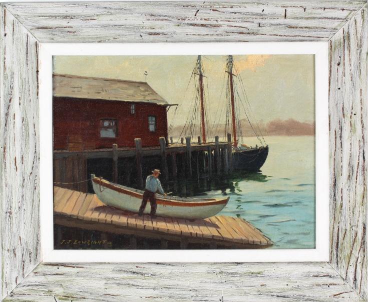 Hjalmar Cappy Amundsen J.J. Enwright Oil Painting