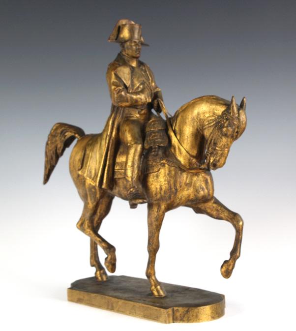 Emmanuel Fremiet Napoleon Napoleon on Horse Gilt Bronze Sculpture
