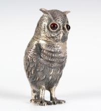 Antique Sterling Silver Tiffany & Co Style Owl Box