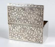 Antique Chased 800 Silver Gold Washed Box