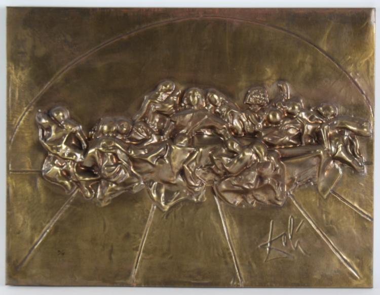 Salvador DALI Last Supper Bronze Relief Sculpture