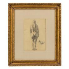 Louis Eilshemius 1864-1941 American Pencil Drawing