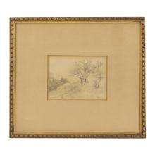 Louis Eilshemius 1864-1941 Sketch Pencil Drawing