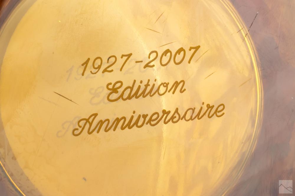 Lalique Amber Citrine 2007 Crystal Bacchantes Vase