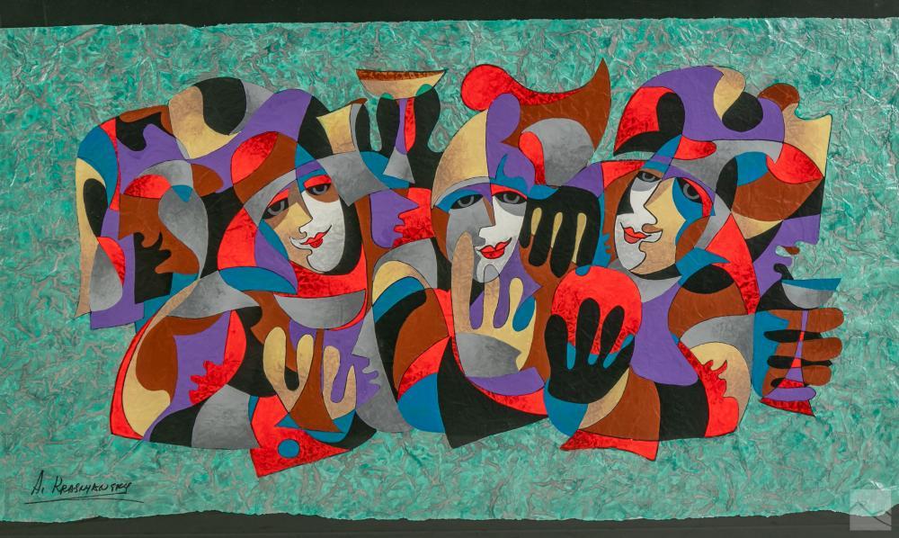 Anatole Krasnyansky b.1930 Expressionism Painting