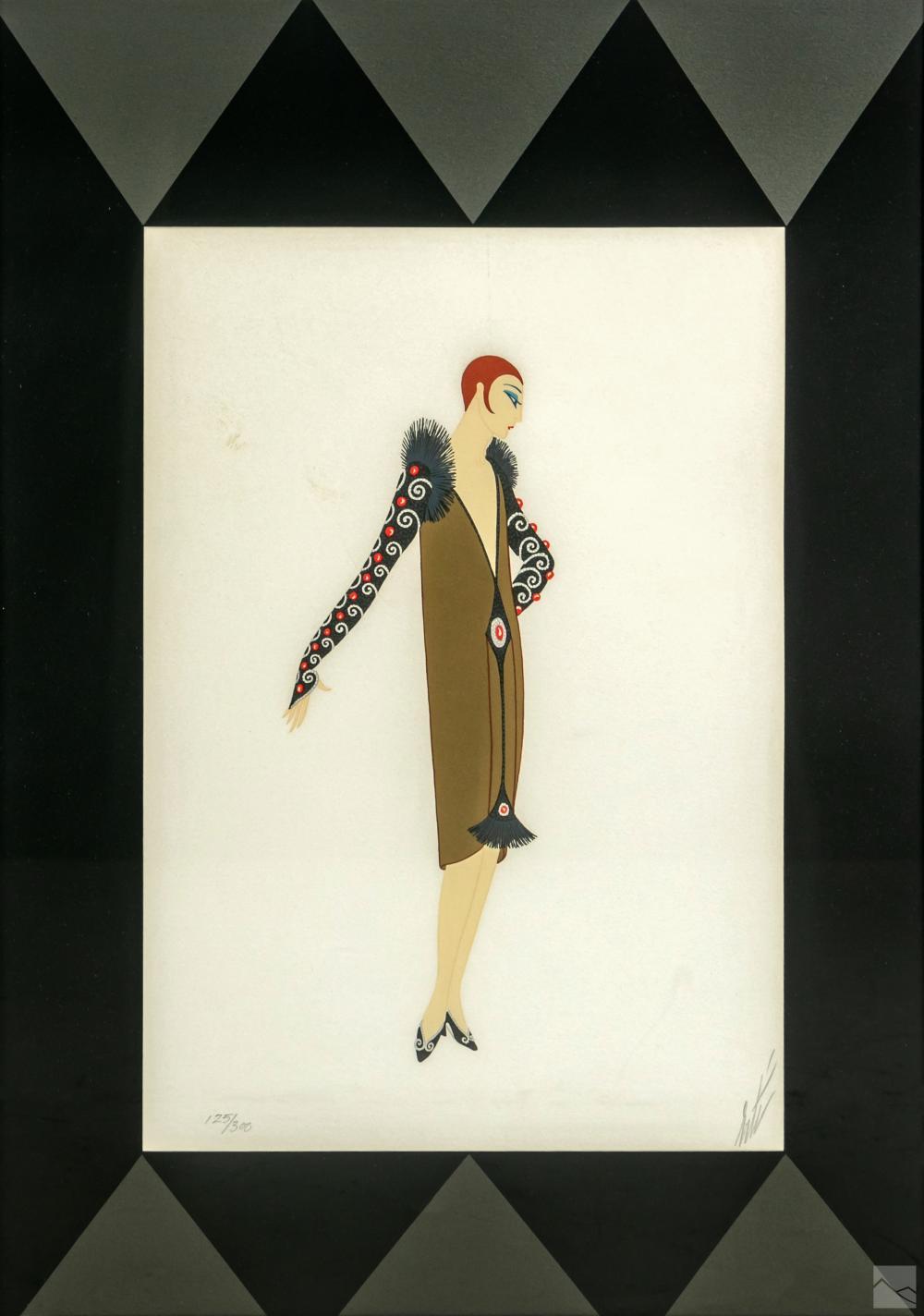 Erte 1892-1990 Art Deco Manhattan Mary II LE Litho