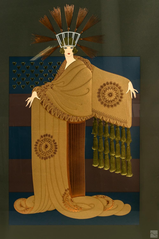 Erte 1892-1990 Art Deco Framed Figural Serigraphs