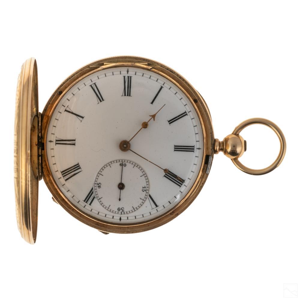 18K Gold T.F. Cooper English 13 Jewel Pocket Watch