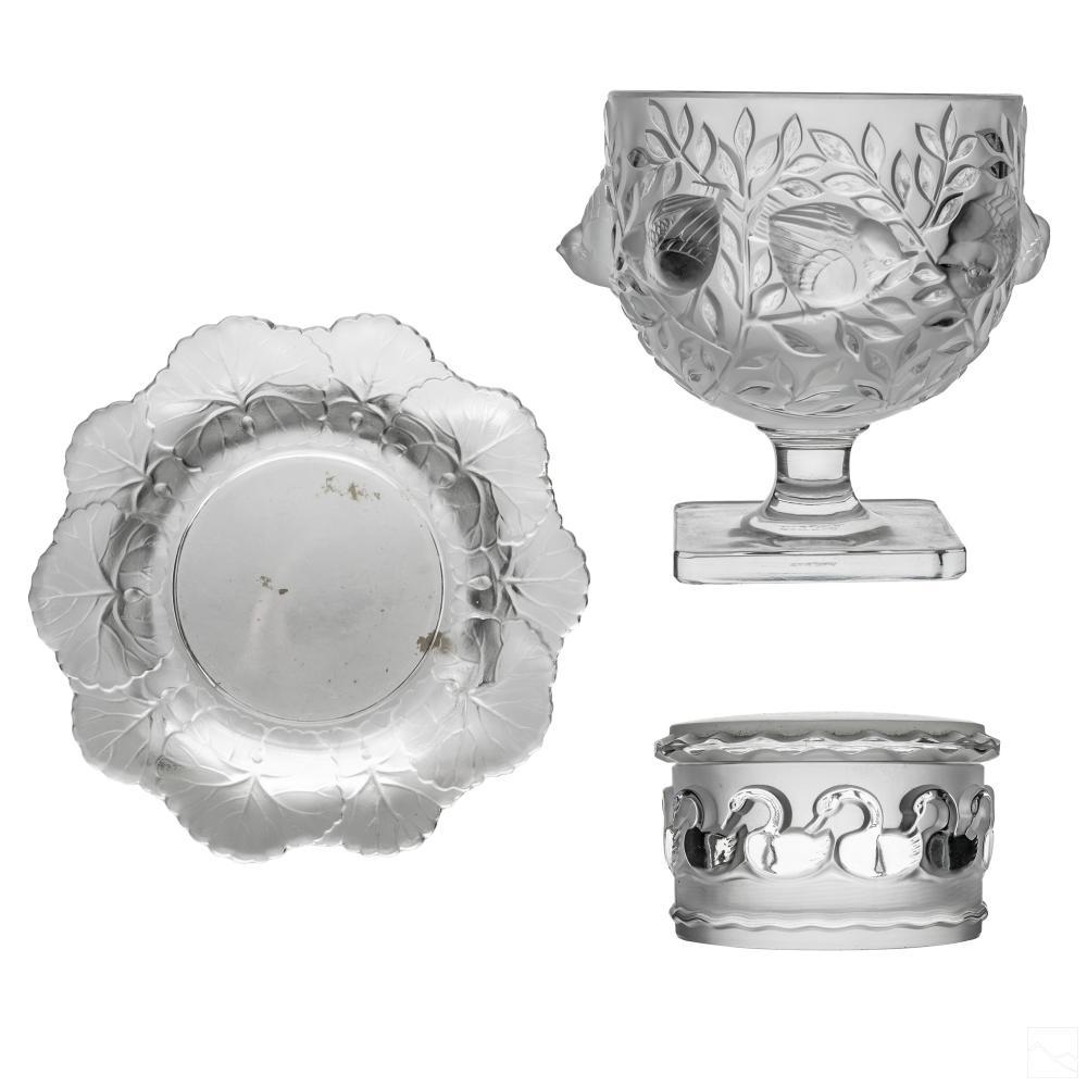 Lalique French Crystal Bowl Trinket Dish & Ashtray