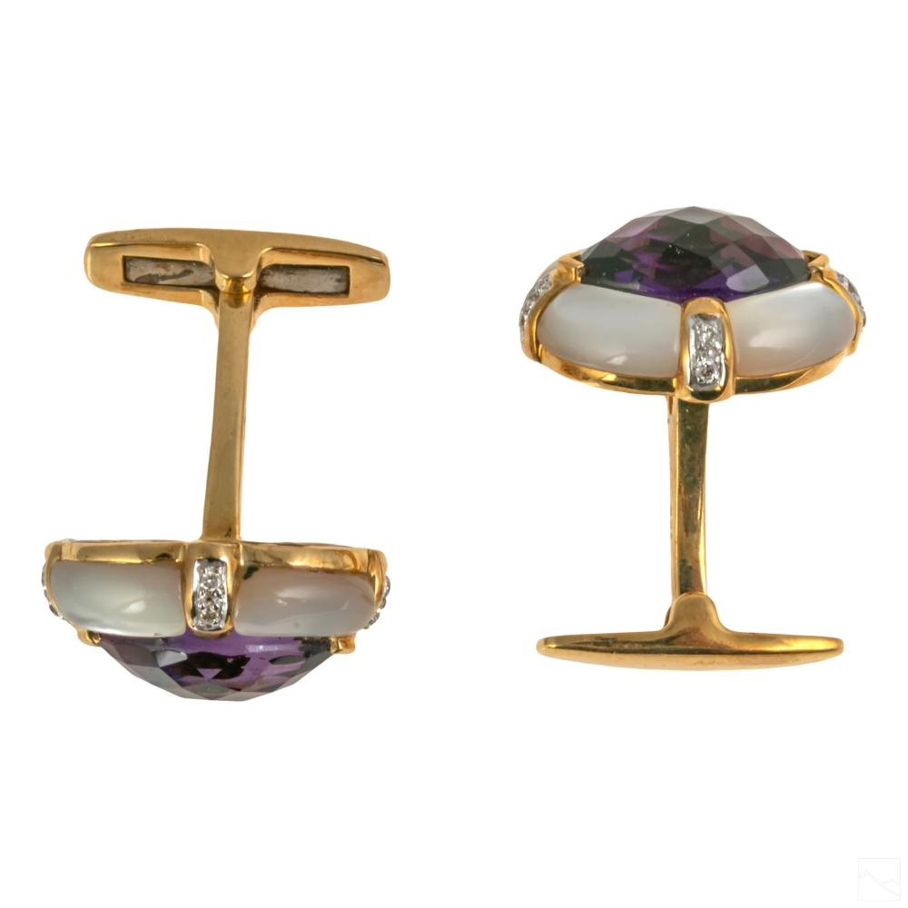 Dolan Bullock 18K Gold Diamond Cufflink Tuxedo Set