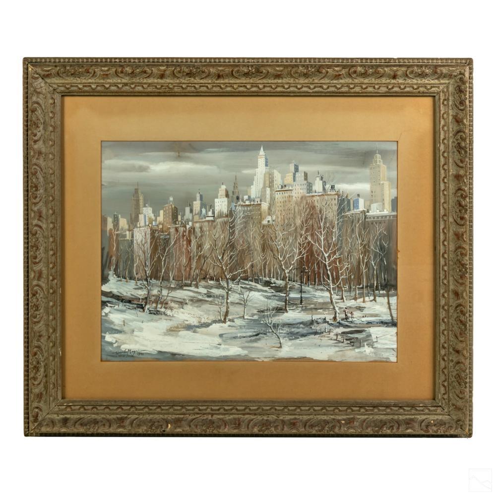 Riccardo Magni (1886-1964) NYC Cityscape Painting