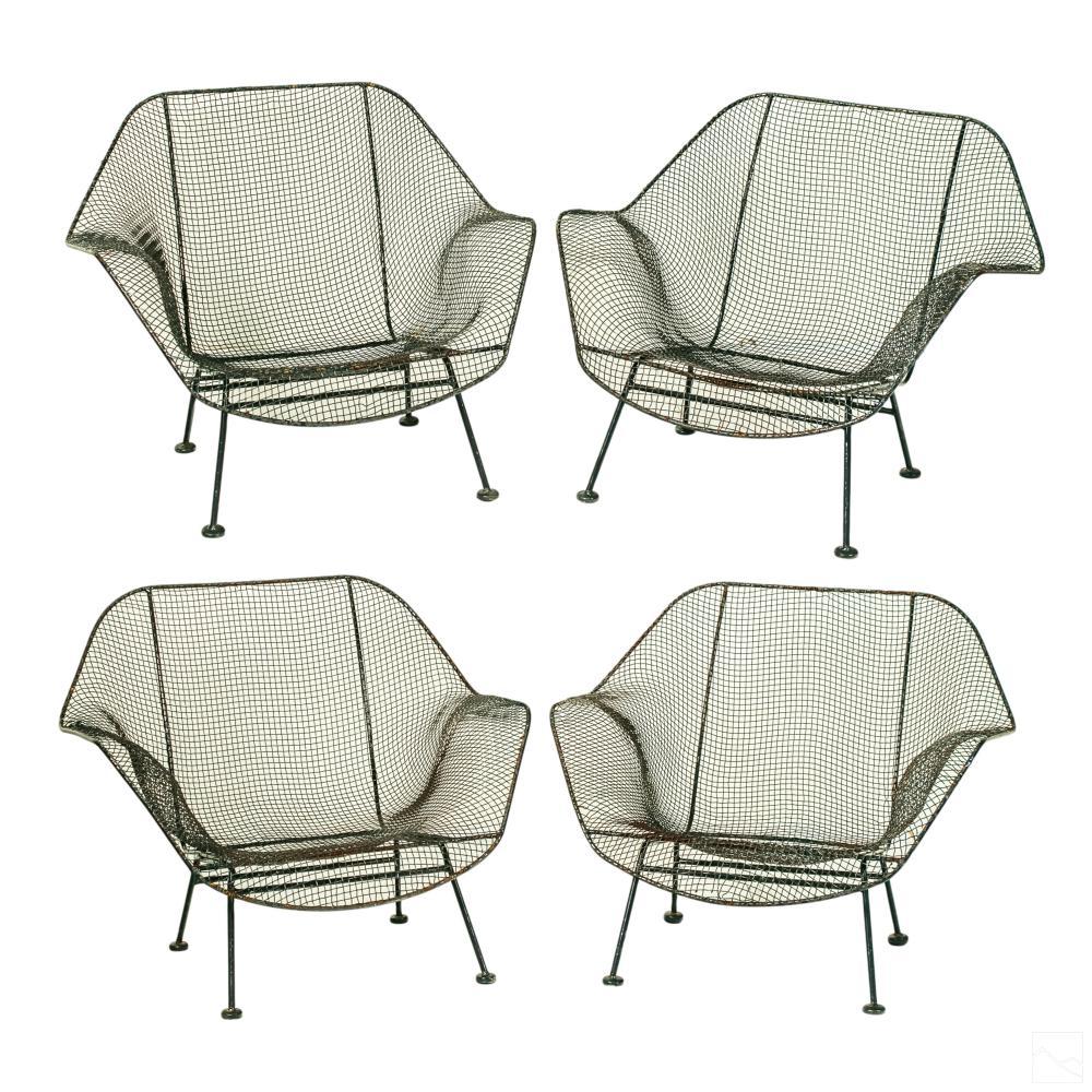 Russell Woodard Modern Open Metal Lounge Chair SET