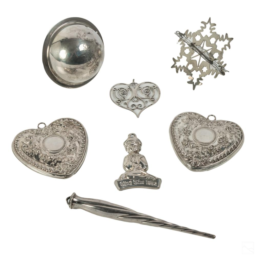 Sterling Silver Annual Christmas Ornament LOT 138g