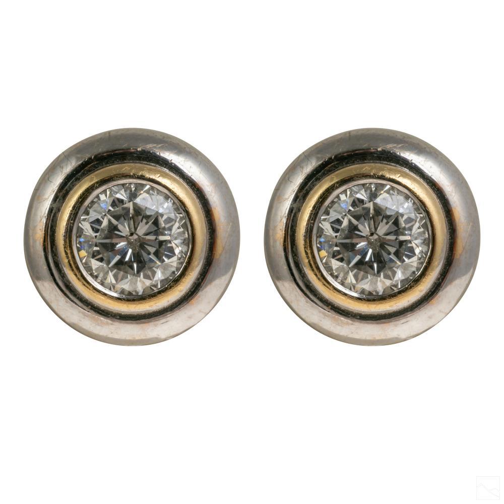 14K Gold .75 Carat Diamond Butterfly Earrings 3.5g