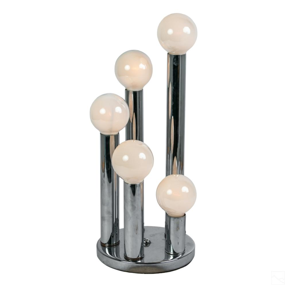 Robert Sonneman 20C Mid Century Modern Chrome Lamp