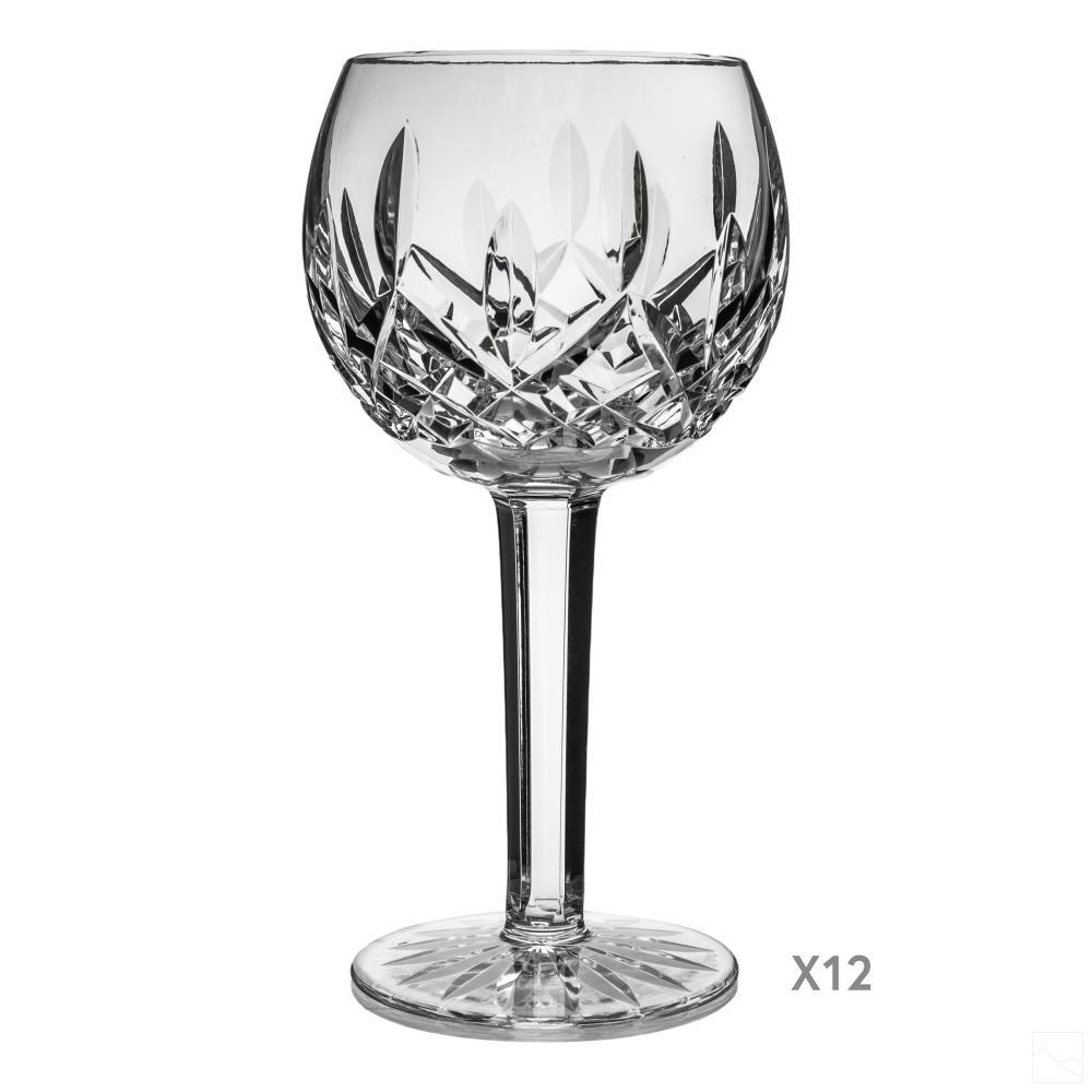 Waterford Crystal Lismore Wine Hock Goblet Glasses