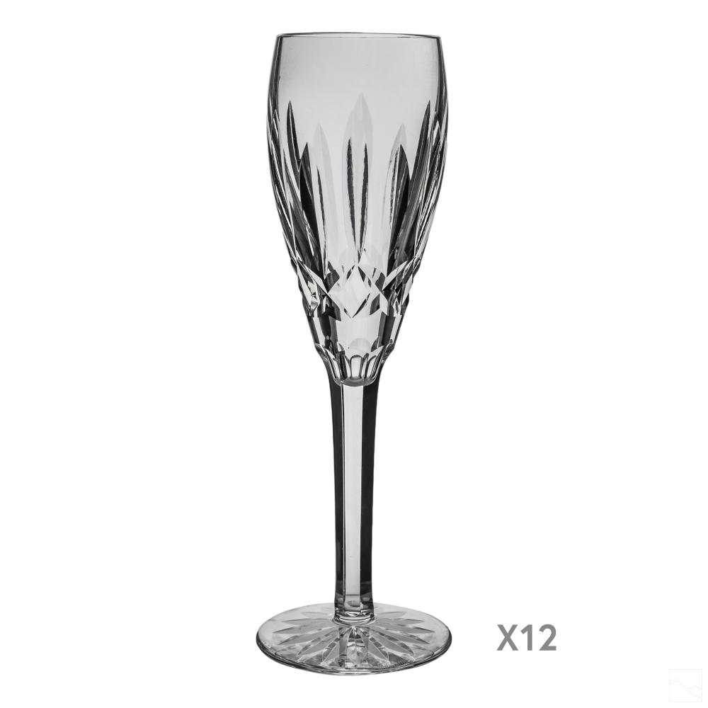 Waterford Crystal Lismore Fluted Champagne Glasses