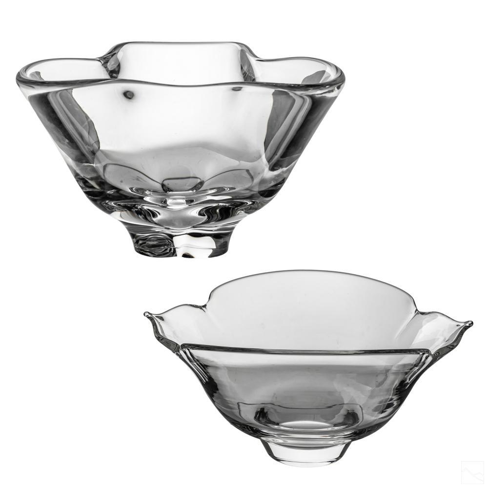 Steuben American Art Glass Modern Crystal Bowls