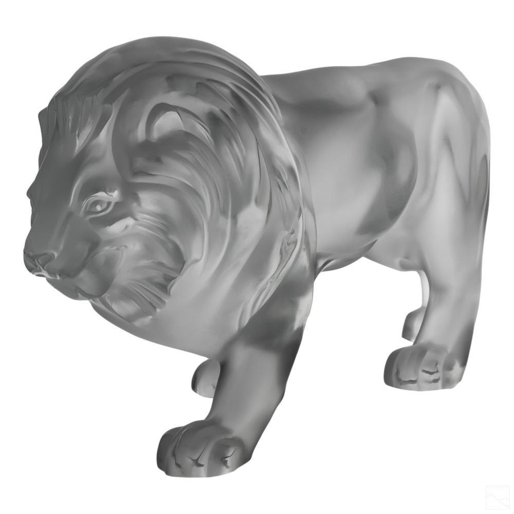 Lalique Art Glass Crystal Regulus Lion Sculpture