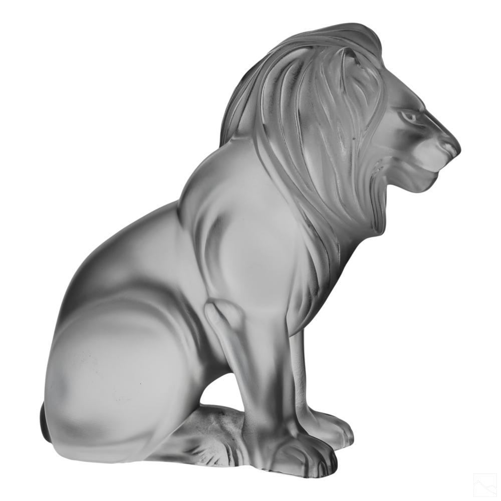 Lalique Art Glass Crystal Barama Lion Sculpture
