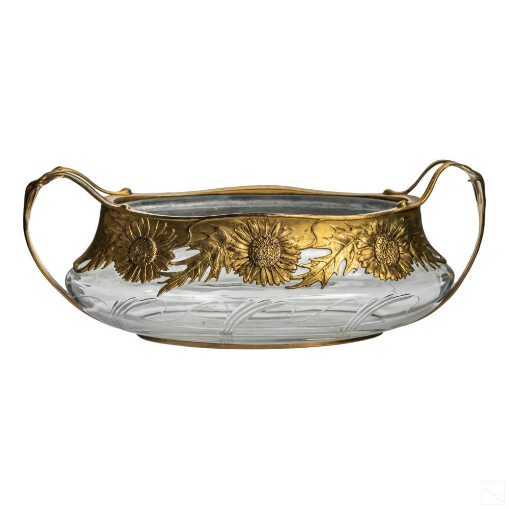Orivit German Art Nouveau Oval Crystal Centerpiece