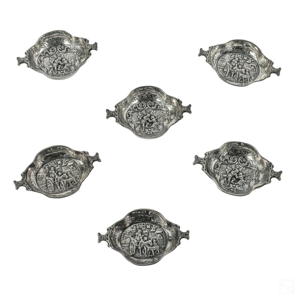 Gerofabriek German Silver Plate Figural Nut Dishes