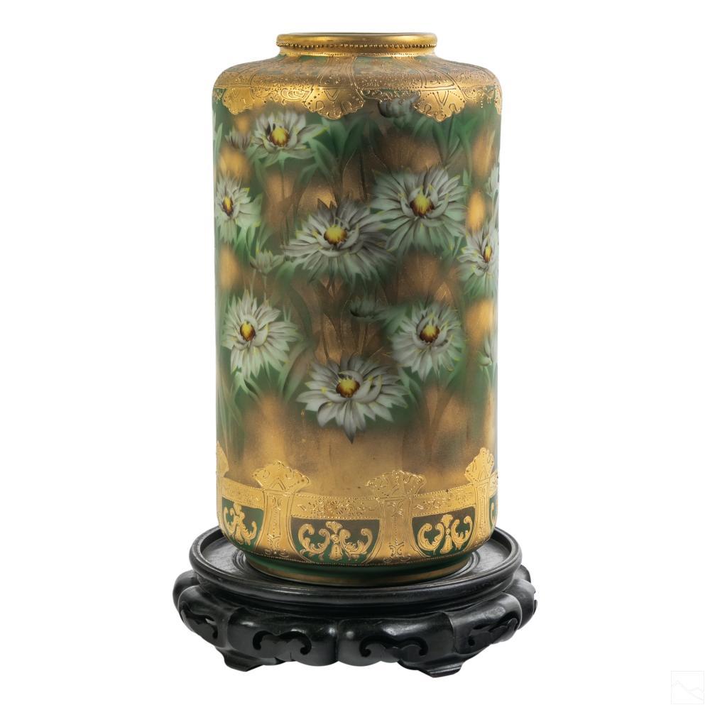 Nippon Style Antique Signed Gilded Porcelain Vase