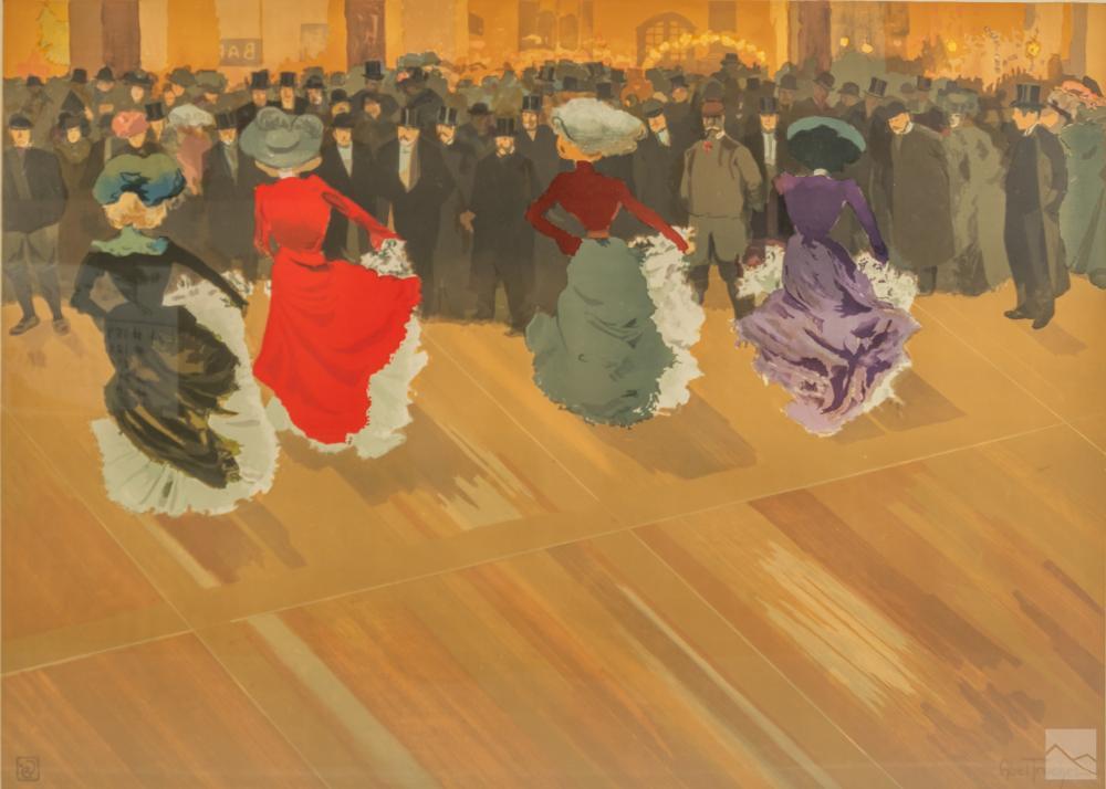 Louis Abel Truchet 1857-1918 French Art Lithograph