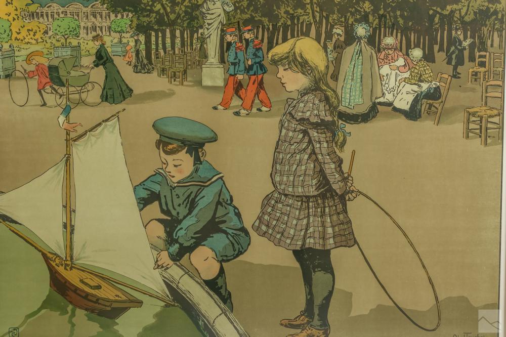 Louis Abel Truchet 1857-1918 French Figural Litho