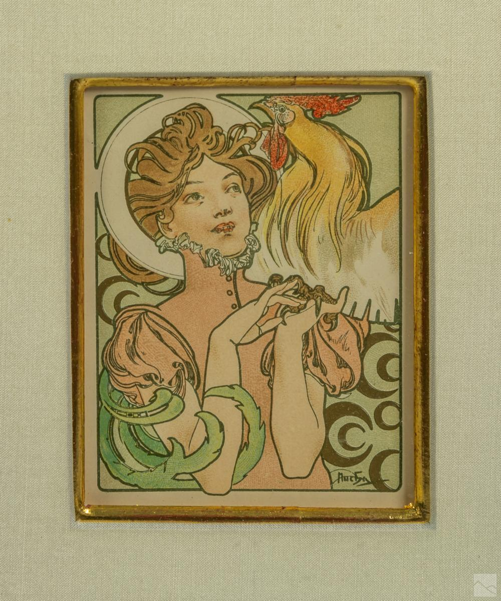 Alphonse Maria Mucha (1860-1939) Lithographs, COA