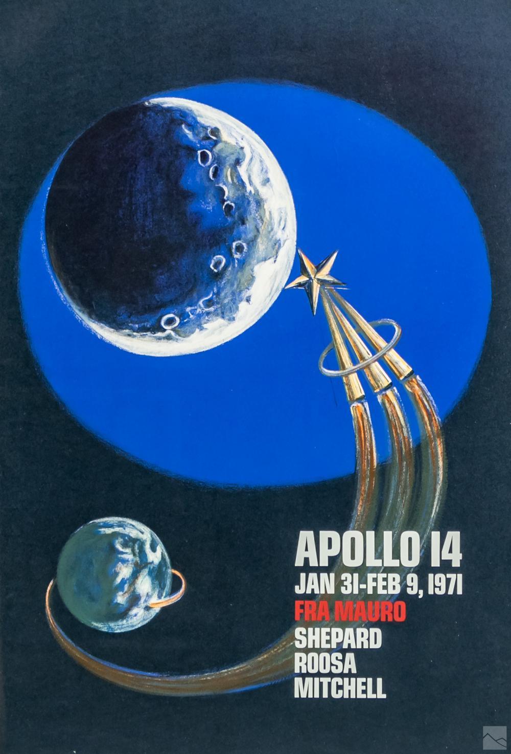 NASA Apollo 14 Astronauts Space Lithograph Poster