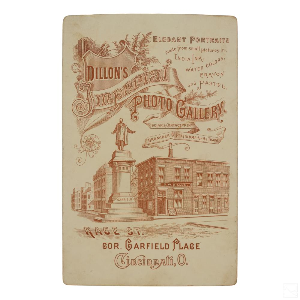 Wild West Antique Figural Cabinet Photograph Card