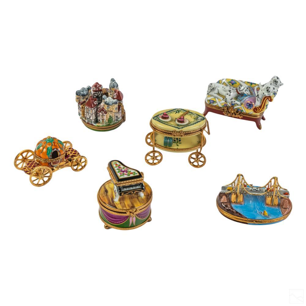 Limoges French Porcelain Signed Keepsake Boxes LOT
