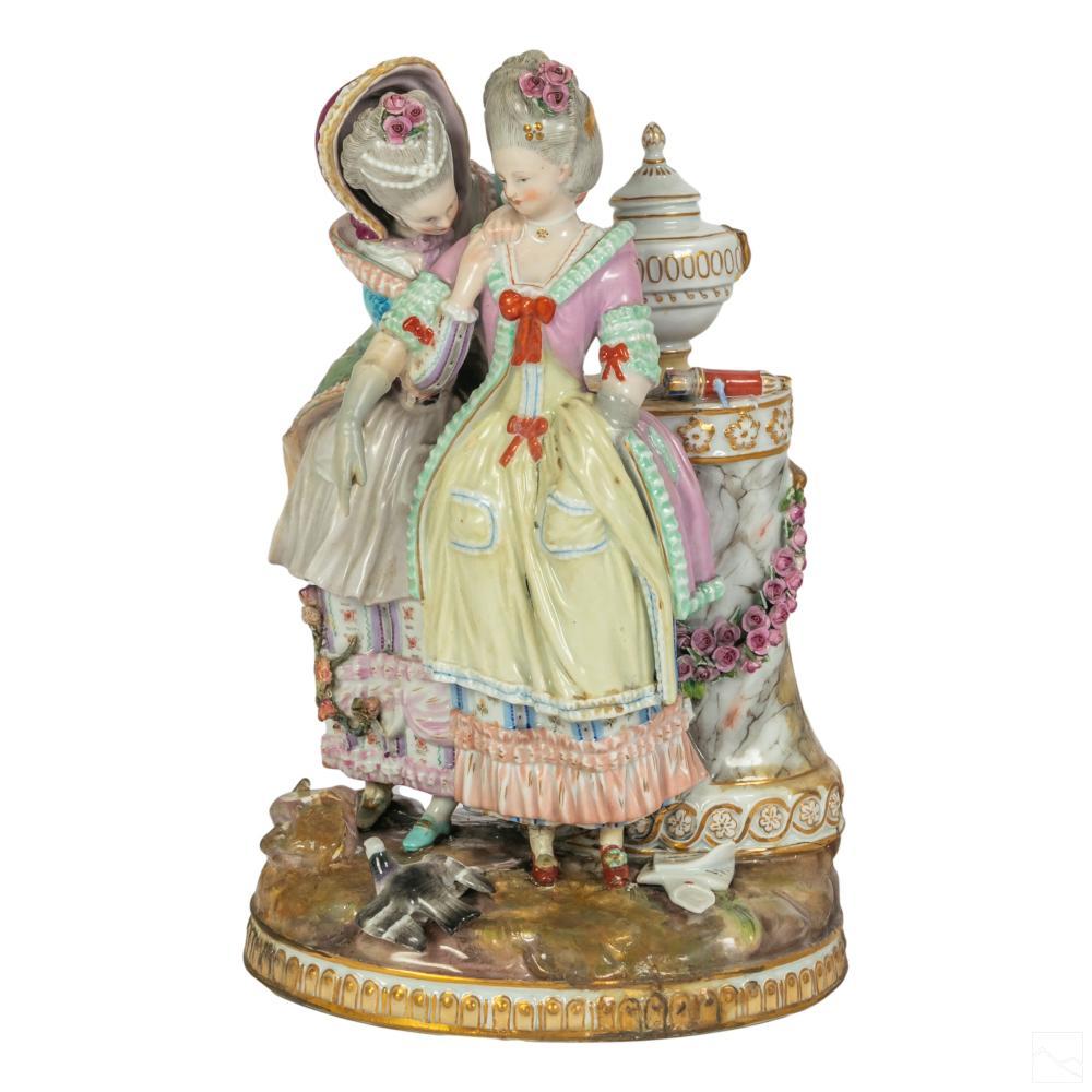 Meissen German Porcelain 19C. Young Bride Figurine