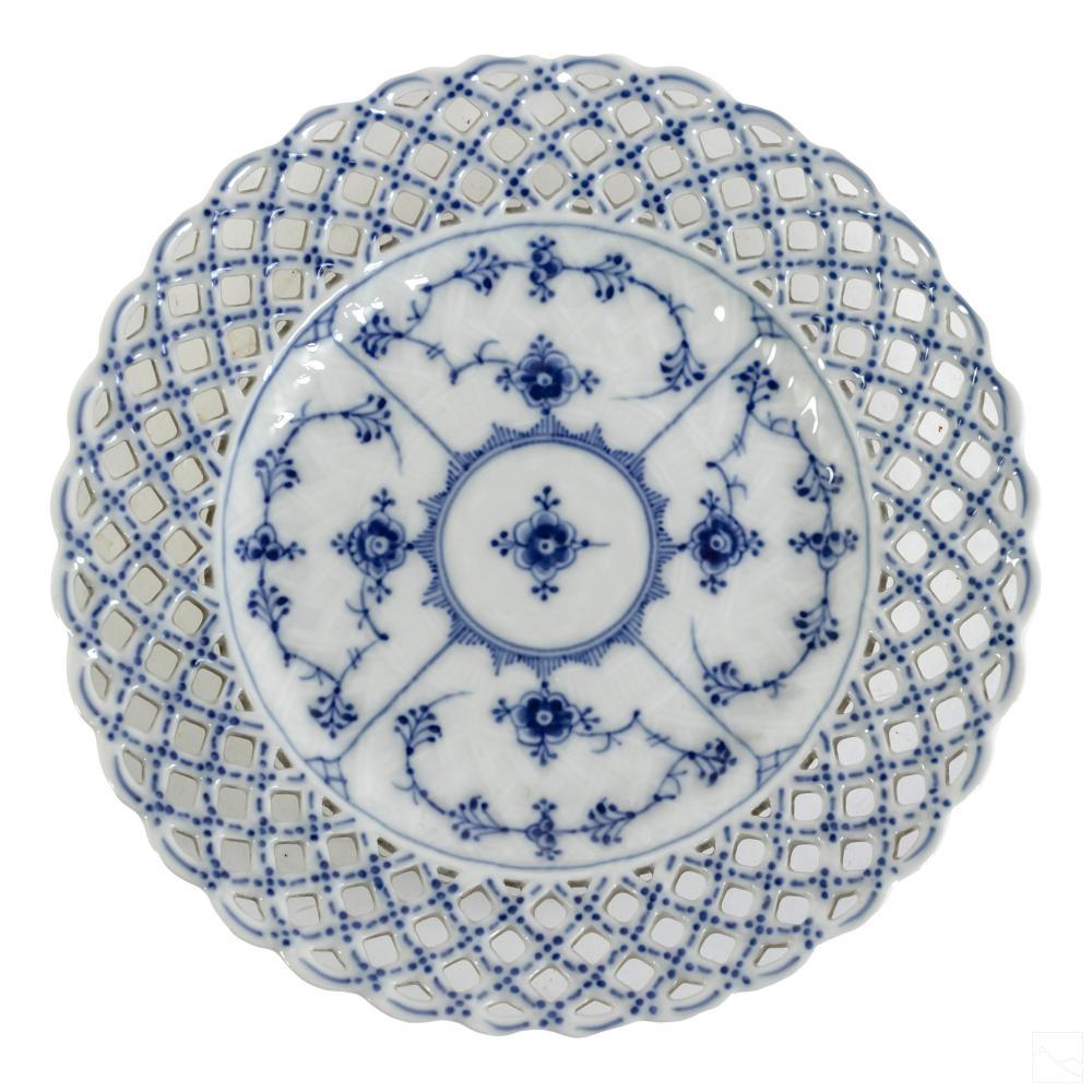 Royal Copenhagen Blue Fluted Full Lace Plate #1135
